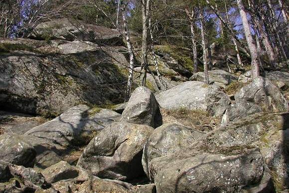 Pulčínské skály - Zámčisko (30.3.2002)